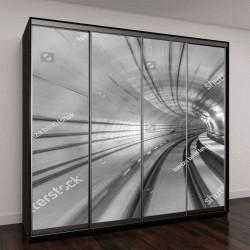 """Шкаф купе с фотопечатью """"Абстрактный эффект перспектива"""""""