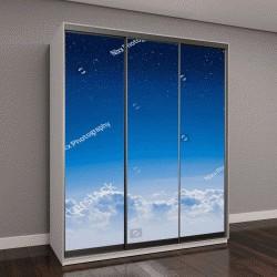 """Шкаф купе с фотопечатью """"Высокий вид высота между небо и космос"""""""