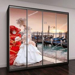 """Шкаф купе с фотопечатью """"Восход солнца в Венеции """""""