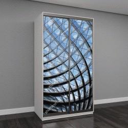 """Шкаф купе с фотопечатью """"Структурный стеклянный фасад, фантастическое офисное здание"""""""