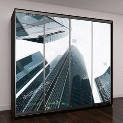 """Шкаф купе с фотопечатью """"высотные здания в перспективе"""""""