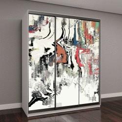 """Шкаф купе с фотопечатью """"текстура холста, абстрактная картина"""""""