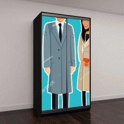 """Шкаф купе с фотопечатью """"Лондон, Великобритания, 24 января, Меган Маркл и принц Гарри векторного рисования иллюстрации"""""""