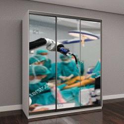 """Шкаф купе с фотопечатью """"Медицинский робот будущего, замена человека"""""""