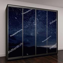 """Шкаф купе с фотопечатью """"Ночное небо с множеством блестящих звезд"""""""
