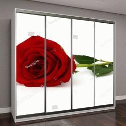 """Шкаф купе с фотопечатью """"Красные розы в подарок"""""""