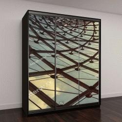 """Шкаф купе с фотопечатью """"Абстрактная структура крыши"""""""