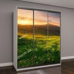 """Шкаф купе с фотопечатью """"Горная долина во время восхода солнца"""""""