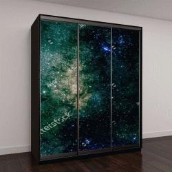 """Шкаф купе с фотопечатью """"Блестящие звезды и галактики неба, Африка"""""""