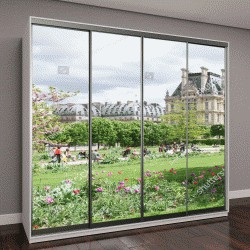 "Шкаф купе с фотопечатью ""Дворец Лувр и сад Тюильри в Париже, Франция"""