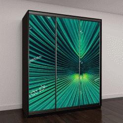 """Шкаф купе с фотопечатью """"абстрактный синие полосы от природы, тропических пальмовых листьев текстуры, фон, винтаж"""""""