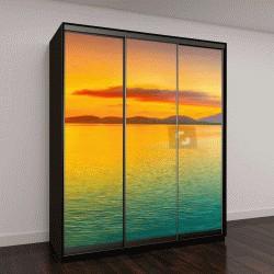 """Шкаф купе с фотопечатью """"Восход солнца над морем"""""""