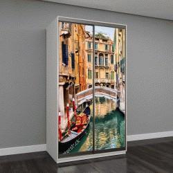"""Шкаф купе с фотопечатью """"Живописный канал с гондолы, Венеция, Италия"""""""