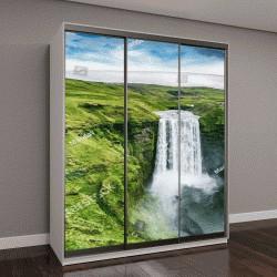 """Шкаф купе с фотопечатью """"Исландия, водопад Скоугафосс """""""