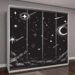 """Шкаф купе с фотопечатью """"небо в ночное время"""""""