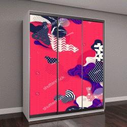 """Шкаф купе с фотопечатью """"абстрактные пятна на розовом фоне"""""""