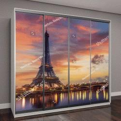 "Шкаф купе с фотопечатью ""Эйфелева башня на рассвете в Париже, Франция"""