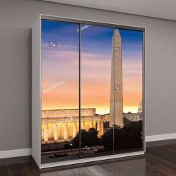 """Шкаф купе с фотопечатью """"Новый рассвет над Вашингтоном """""""