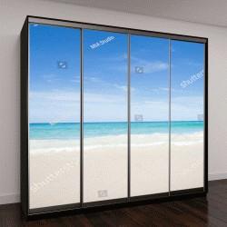 """Шкаф купе с фотопечатью """"Вид на море с тропического пляжа с солнечным небом"""""""