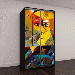 """Шкаф купе с фотопечатью """"Альтернативные репродукции известных картин Пикассо"""""""