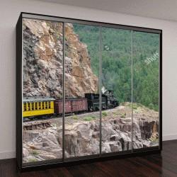 """Шкаф купе с фотопечатью """"Дуранго и Сильвертон - старинные железнодорожные поезда на паровом двигателе, штат Колорадо"""""""
