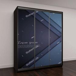 """Шкаф купе с фотопечатью """"Темно-синий фирменный арт"""""""