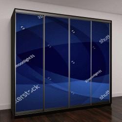 """Шкаф купе с фотопечатью """"Абстрактный фон, изогнутые линии темно-синего цвета"""""""