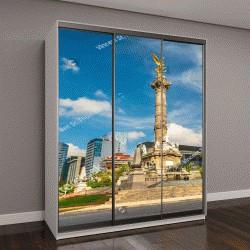 """Шкаф купе с фотопечатью """"Ангел Независимости в центре площади в Мехико, Мексика"""""""
