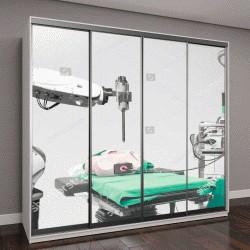 """Шкаф купе с фотопечатью """"Медицинский робот,  выполняющий операцию на модели человеческого тела"""""""