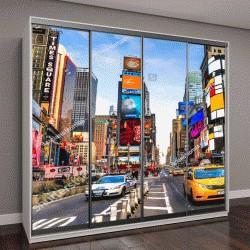 """Шкаф купе с фотопечатью """"пересечение улиц в Нью-Йорке"""""""