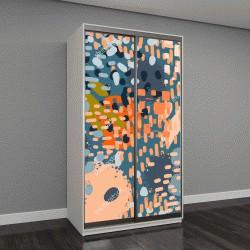"""Шкаф купе с фотопечатью """"Абстрактное искусство бесшовные узор, пятна краски"""""""