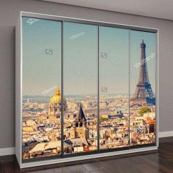 """Шкаф купе с фотопечатью """"Вид на Эйфелеву башню, Париж, Франция"""""""