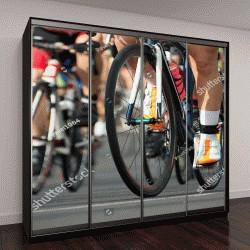 """Шкаф купе с фотопечатью """"Соревнования по велоспорту"""""""