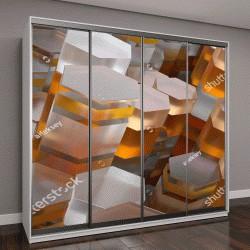 """Шкаф купе с фотопечатью """"3D абстрактный фон из случайно экструдированный геометрия"""""""