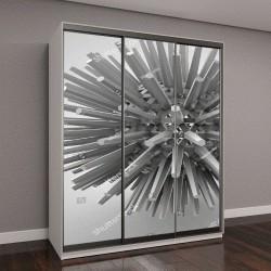 """Шкаф купе с фотопечатью """"3D иллюстрация, многогранная звезда"""""""