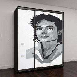 """Шкаф купе с фотопечатью """"портрет Майкла Джексона"""""""