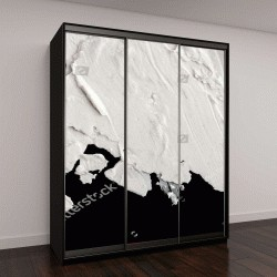 """Шкаф купе с фотопечатью """"Структурная штукатурка белого цвета на черном фоне"""""""