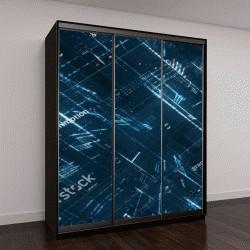 """Шкаф купе с фотопечатью """"Цифровой двоичный код матрицы, 3D визуализация"""""""