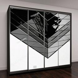 """Шкаф купе с фотопечатью """"Черно-белые изображения коммерческих зданий """""""