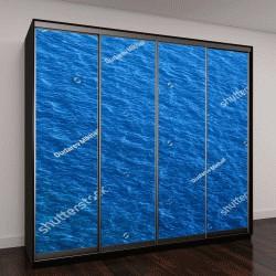 """Шкаф купе с фотопечатью """"Синяя поверхность моря с волнами"""""""