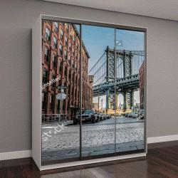 """Шкаф купе с фотопечатью """"Манхэттен, мост через Бруклин"""""""