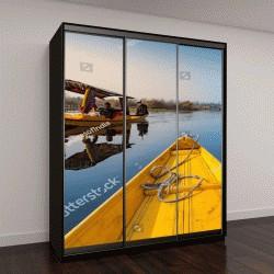 """Шкаф купе с фотопечатью """"лодки на озере Дал в Индии"""""""