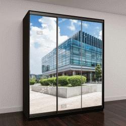"""Шкаф купе с фотопечатью """"современные офисные здания в Чэнду"""""""