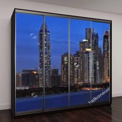 """Шкаф купе с фотопечатью """"панорамный вид на Дубай """""""