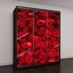 """Шкаф купе с фотопечатью """"фон из красных роз"""""""