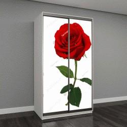 """Шкаф купе с фотопечатью """"красная роза на белом фоне """""""