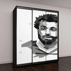 "Шкаф купе с фотопечатью ""портрет Мохамеда Салаха """