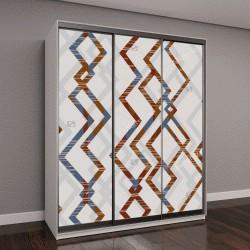 """Шкаф купе с фотопечатью """"Абстрактные бесшовные изображения, красочная графика и гобелены можно использовать в качестве шаблона для ткани бесконечные шаблон может быть использован для керамической плит"""