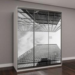 """Шкаф купе с фотопечатью """"Вид деловых зданий"""""""
