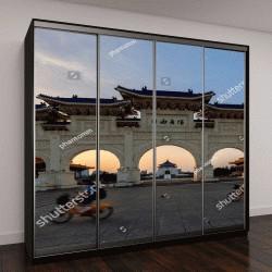 """Шкаф купе с фотопечатью """"Национальный Чан Кай-Ши, мемориальный зал """""""